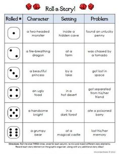Roll-A-Story Freebie! Check out this clever literacy dice game