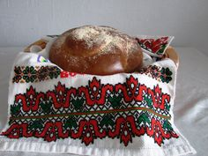 """Ukrainian Embroidered Easter Towel: """"Happy Easter"""". $40.00, via Etsy.  I just love the traditional stuff."""