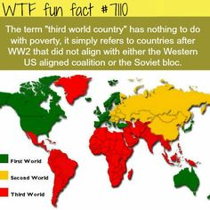 WTF Facts : funny, interesting & weird facts — Third world countries - WTF fun facts The More You Know, Good To Know, Did You Know, Funny Facts, Weird Facts, Random Facts, Crazy Facts, Strange Facts, We Are The World