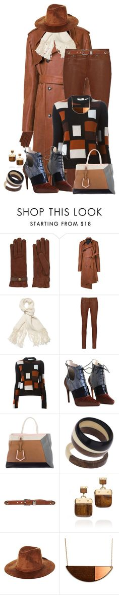 """Browns"" by kazza-smith ❤ liked on Polyvore featuring Causse, Y/Project, Helmut Lang, rag & bone, Fendi, Christian Dior, Topshop, Armani Collezioni, Tory Burch and Brixton"