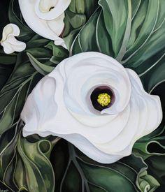"""Saatchi Art Artist: Jo Beer; Oil 2010 Painting """"calla lilies"""""""