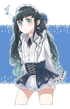 Maid Outfit Anime, Anime Maid, Demon Slayer, Slayer Anime, Vestidos Anime, Concept Clothing, Demon Hunter, Maid Dress, Anime Demon