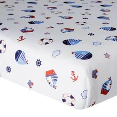 Sail Away Nautical Boating Boys Nursery Crib Fitted Sheet by Bedtime Originals #BedtimeOriginals