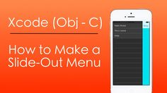 How to Make a Slide Out Menu with Objective-C in Xcode Objective C, Moment Of Silence, Video Tutorials, Menu, How To Make, Free, Menu Board Design