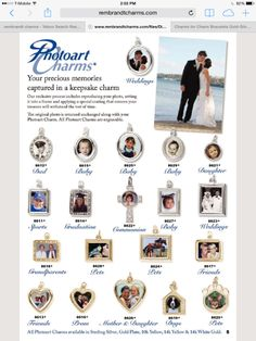 Photoart Charms! Capture your most precious memories and wear them with pride! All charms can be worn on a bracelet or as a pendant. Your original photo will be returned to you unchanged along with your charm. #charms #photocharms #ajkleinjewelers #silver #gold