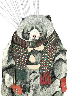 fantastical winter bear by julia pott