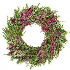 Fresh Heather and Rosemary Wreaths