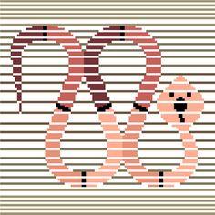 Elegant minimalist cross stitch pattern of a desert snake by CrossStitchtheLine