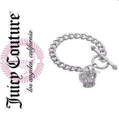 Juicy Couture crown bracelet Crown charm bracelet from Juicy Couture  Length 7.5 in. Toggle clasp, Silver tone No Trades Juicy Couture Jewelry Bracelets