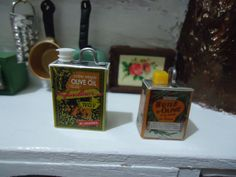 miniature olive oil 2 PCS by MINISSU on Etsy, $3.99