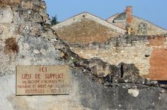The abandoned village of Oradour-sur-Glane, France, pictured on August 30, 2013, where 642 people were killed in June 1944, in error for another village, in revenge for resistance attack, on retreating Germans, and the village preserved in abandoned state, as memorial to the massacre. (Photo Thierry ZOCCOLAN / afp.com)