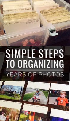 Try these simple steps to get your pictures organized! This is a great process for scrapbookers who are years behind with photos. The CTMH Large Organzier is the perfect product for getting photos organized. #photos #organization #scrapbooking #organizing #preserving #memories