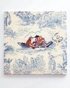 Embroidered toile - Jeffrey Saja