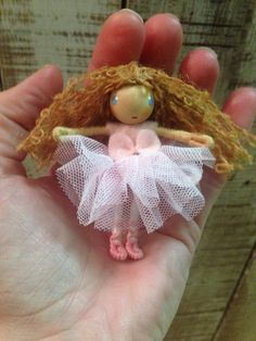 """Tiny Dancer""  A Waldorf inspired tutu ballerina bendy doll  By: A Curious Twirl   https://www.etsy.com/shop/ACuriousTwirl"