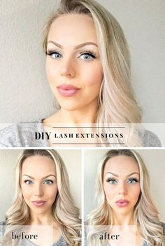 DIY eyelash extensions with false lashes! I literally get asked where I get my lashes done all the time - they don't believe me when I tell them I do it this way!