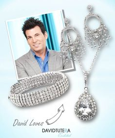 David loves elegant crystal jewelry pieces. Match the jewelry from different collections, and effortlessly pull your look together.