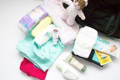 What to pack in your hospital diaper bag for baby! This will ensure that you have everything you need on the day of your delivery for your little one. This list takes away the stress of not knowing what to pack. The hospital gives you some items but it's always nice to have everything you need and be extra prepared! | www.annemariemitchell.com