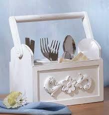 Resultado de imagem para cutlery caddy wood