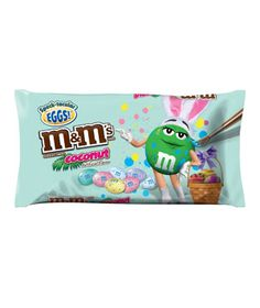 M&M'S® Speckled Coconut Chocolate Eggs  Another brilliant flavor pairing: M&M's go tropical with a hint of coconut flavor and a crunchy pastel candy coating that will win over any egg-hunter.    To buy: $3.50 for one 9.9-ounce bag, at supermarkets and drugstores.