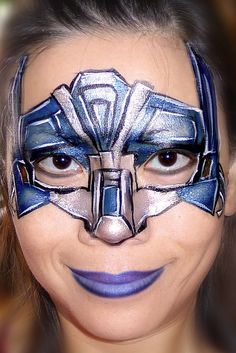 Transformers Face Painting  girls face paint.  can even be another color