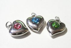 Silver Swarovski Crystal Heart Charm Silver Heart  by BijiBijoux, https://www.etsy.com/listing/113563169/silver-swarovski-crystal-heart-charm?ref=shop_home_active_12