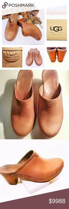 UGG AUSTRALIAN CLOGS These Blush color pair of Australian Ugg Clogs are very chic!! They are leather upper with genuine sheepskin inside where the ball of your foot would be and a rubber outer sole. Size 9 and EUC!! UGG BOX NOT INCLUDED! ASK ALL QUESTIONS B4 YOU BUY! UGG Shoes Mules  Clogs