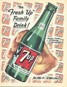 7 UP for everyone! Old Advertisements, Retro Advertising, Retro Ads, Coca Cola Poster, Pepsi Cola, Coke, Vintage Ephemera, Vintage Ads, Vintage Prints
