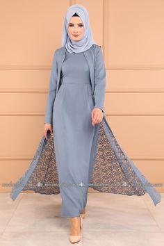 Modest lace sleeveless coat and long sleeve abaya dress. Abaya Style, Hijab Style, Muslim Women Fashion, Islamic Fashion, Abaya Fashion, Modest Fashion, Fashion Outfits, Plus Size Maxi Dresses, Modest Dresses