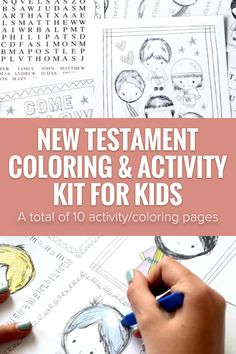 These coloring and activity pages will keep the kids occupied while having fun learning about the New Testament apostles. Get yours today! #NewTestamentPrintables #NewTestament #LatterDaySaint #LDSprintables #Ministering #MinisteringPrintables #LDSColoring Primary Activities, Color Activities, Activity Games, Lds Seminary, Lds Blogs, Fhe Lessons, Doctrine And Covenants, Lds Primary, Visiting Teaching