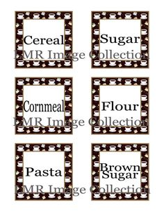 Pantry Labels! Coffee themed. Organized kitchen!