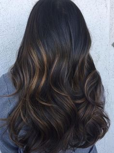 Rich brunette with hints of light caramel highlights