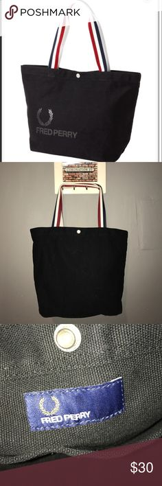 Fred Perry bag Fred Perry Tote Bag W:31cm. H:30cm, special Japan edition Fred Perry Bags Totes