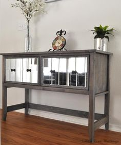DIY Hand-Built Mirror Console Table - 40 Brilliant DIY Furniture Projects That Are Easy To Make - DIY & Crafts