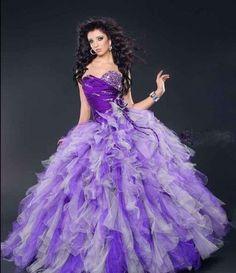 beautiful prom wedding dresses purple