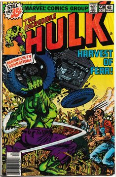 Incredible Hulk Vol 1 230 Bronze Age Comic by RubbersuitStudios Hulk Marvel, Hulk Comic, Marvel Comic Books, Comic Books Art, Comic Art, Marvel Heroes, Avengers, Comic Books For Sale, Classic Comics