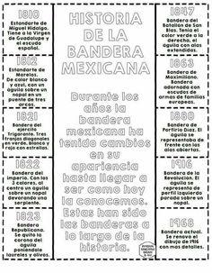 Informacion de la bandera mexicana en ingles