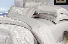Silk Jacquard and Cotton Bedding Set. Silk Bedding, Cotton Bedding Sets, Cotton Sheets, Comforter Sets, Style Simple, Bedding Sets Online, Bed Styling, Luxury Bedding, Bed Sheets