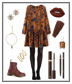 """#135"" by e-elmedal on Polyvore featuring SPANX, Dr. Martens, Marc Jacobs, Lime Crime, Tom Ford, L. Erickson, Essie and Gorjana"