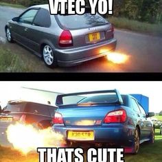 That's cute Funny Car Memes, Car Jokes, Car Humor, Subaru Impreza Sti, Wrx Sti, Subaru Outback, Super Sport Cars, Drifting Cars, Import Cars