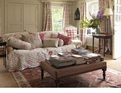 living room in sumptuous chintz