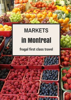 food markets of Montreal