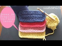 Basas de Trapillo rectangulares ¡¡ DIY !! - YouTube
