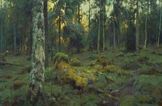 Northern Forest - oil, canvas, Yuri Vasendin: