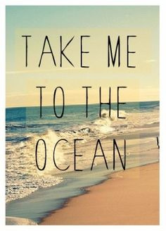 My Mantra ....yes please! in the summer and the winter. I want to be in the Ocean! lele