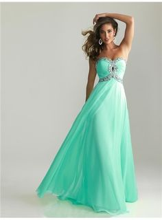 2013 Style A-line Sweetheart Rhinestone Sleeveless Floor-length Chiffon Prom Dresses / Evening Dress from Picsity.com