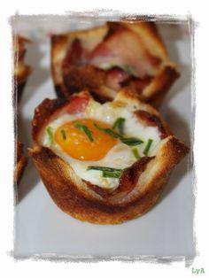 Cocinando... un abril encantado: Croque madame muffins... desayuno de vacaciones, de brunch, de Año Nuevo, de domingo... ¡¡para cualquier ocasión!!