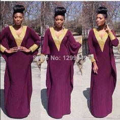Deep-V-Neck-Golden-Embellishment-Long-Sleeves-Purple-Muslim-Kaftan-Dubai-Fancy-Farasha-font-b-Abaya.jpg (750×750)