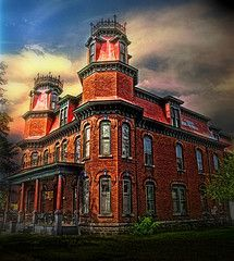 """Built by one of my ancestors, Christina Kuhl in 1886- Stevens Point, Wisconsin- The Kuhl House, 1886 Known locally as """" The Castle """" the massive and imposing Kuhl house is an important local landmark on Main Street Downtown Stevens Point. 23 Rooms, 15 bedrooms, 5 bathrooms, within 5,800 Sq Ft. Presently used as a rooming house. On the National Historical Register since 1978. A French Second Empire design, built by Adam & Christina Prell Kuhl."""