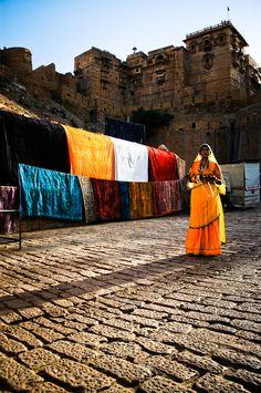 Jaisalmer, #Rajasthan, India.  Head to:  http://www.ixigo.com/travel-guide/jaisalmer