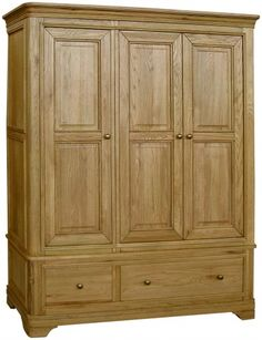 Classic Loire Oak Triple Wardrobe With Drawers